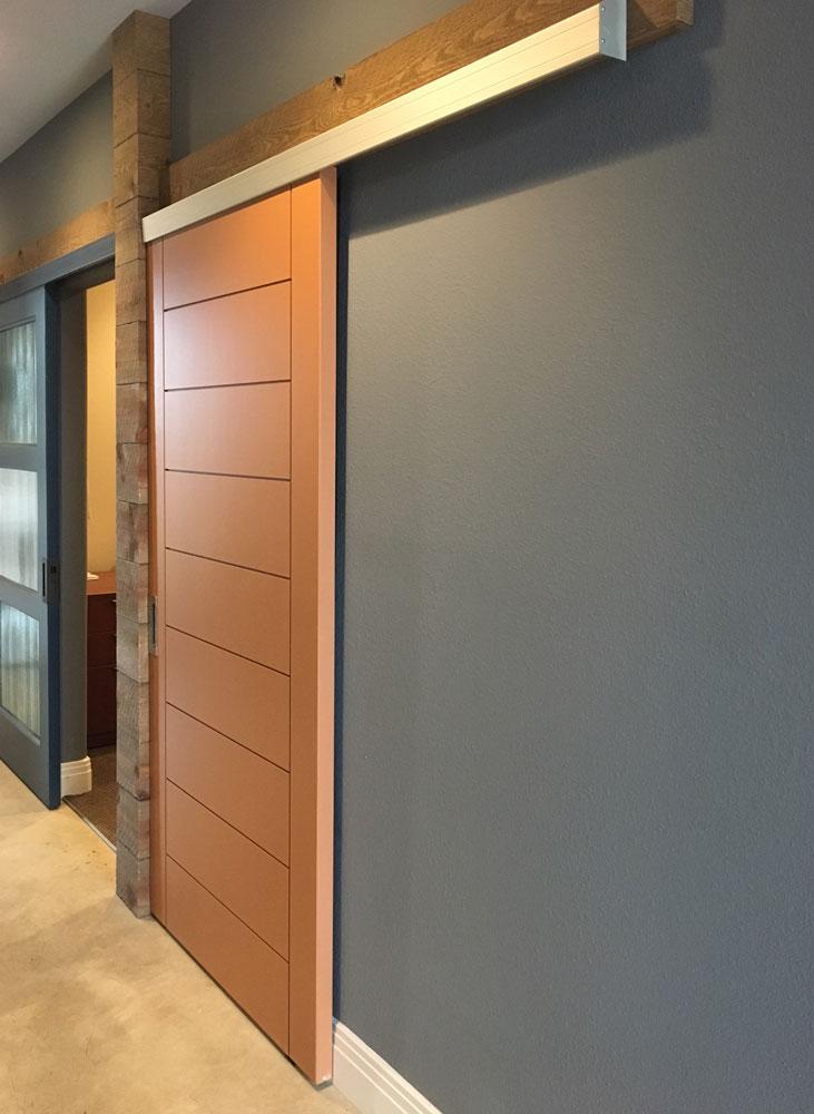 wall mounted sliding door track