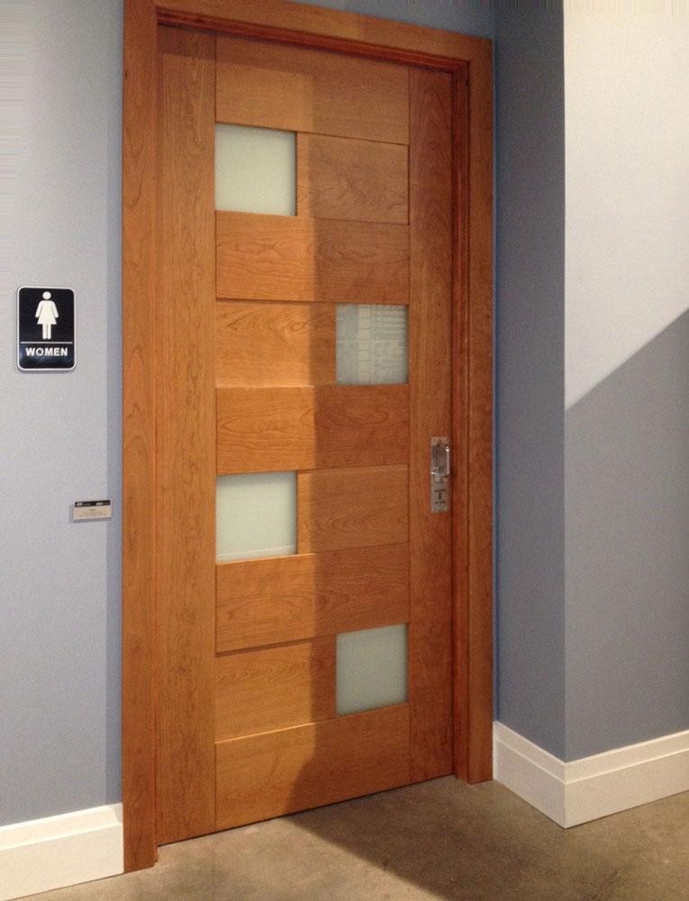 LaviLock on wooden door