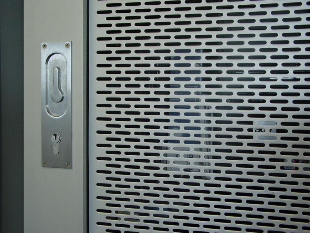 Louise on custom NewYorker door
