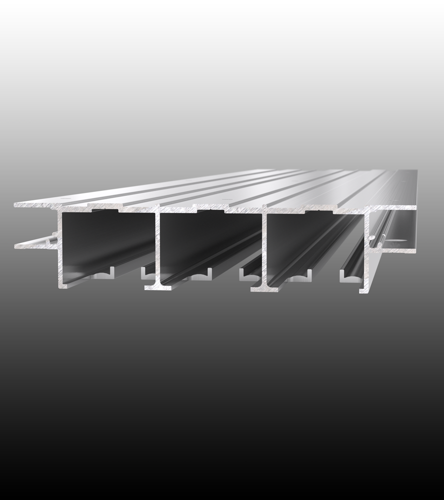 Double Triple Full Height Ceiling Mounted Sliding Door System