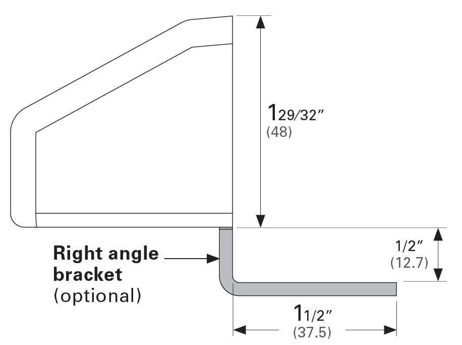 Barn Door Strike dimensions Top