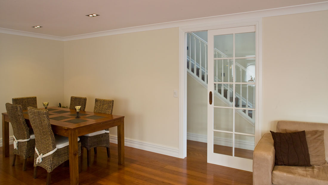 Living Room Pocket Door Track