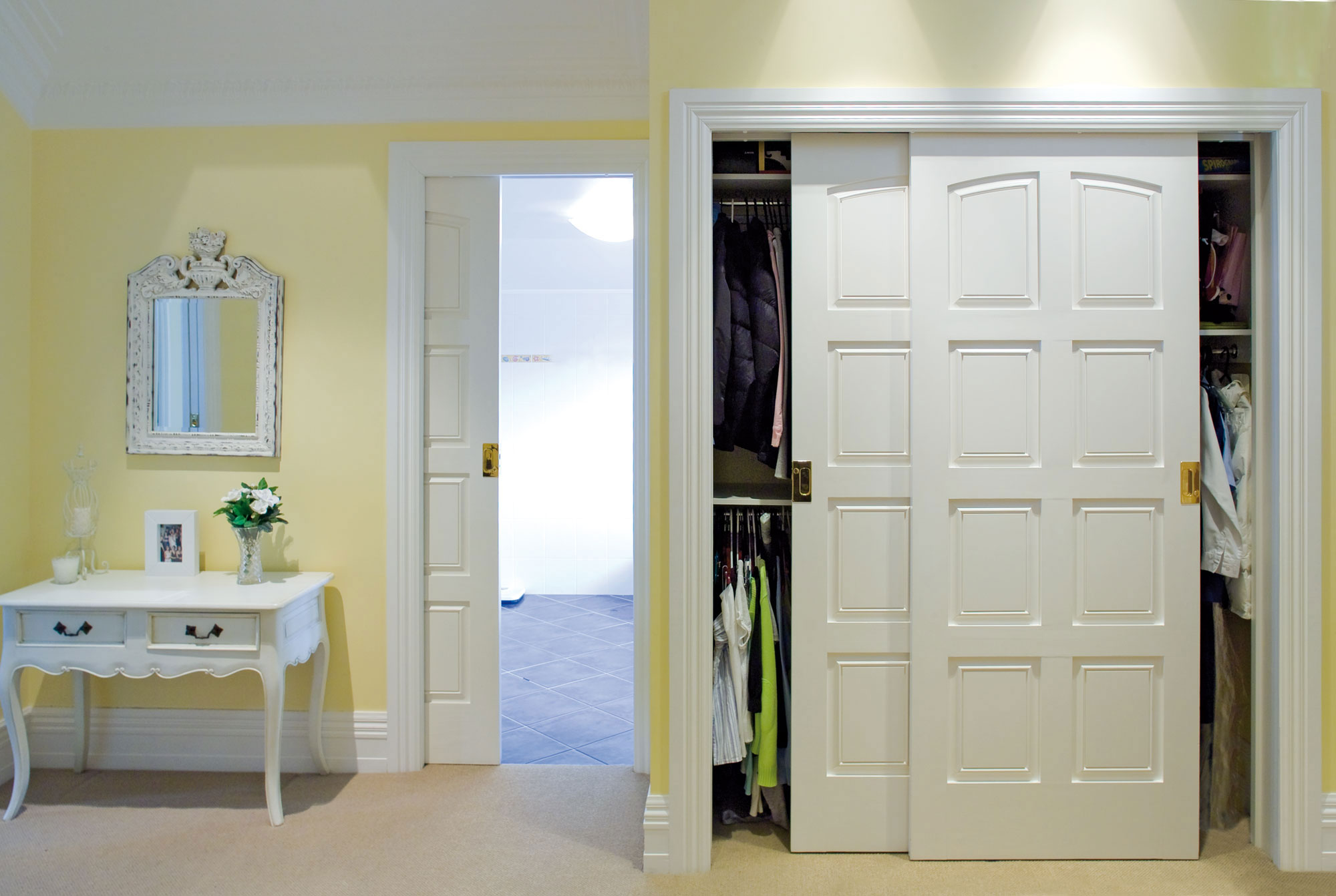 Top Mount Bi-Parting Closet Sliding Door Track