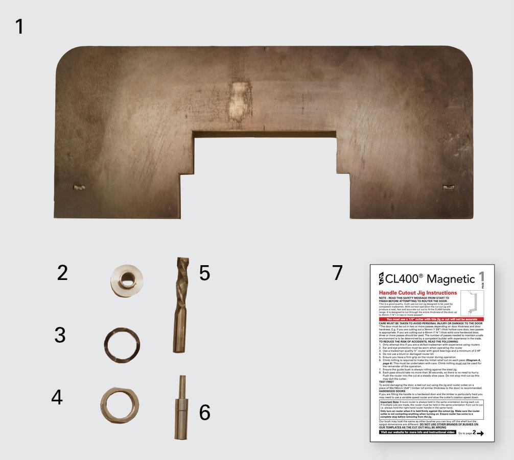CL400 Handle Jig Components