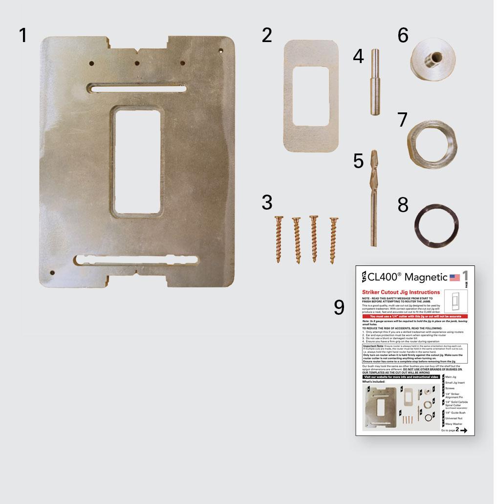 CL400 Striker Jig Components