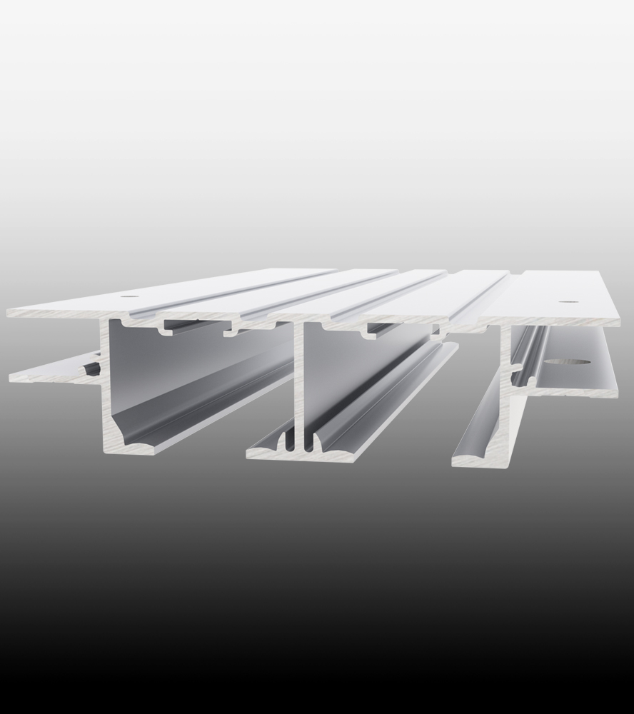 Full Height Ceiling Mount Double Track 1-3/8