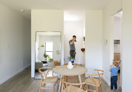 How One Family of Three Does It All in 675 Square Feet