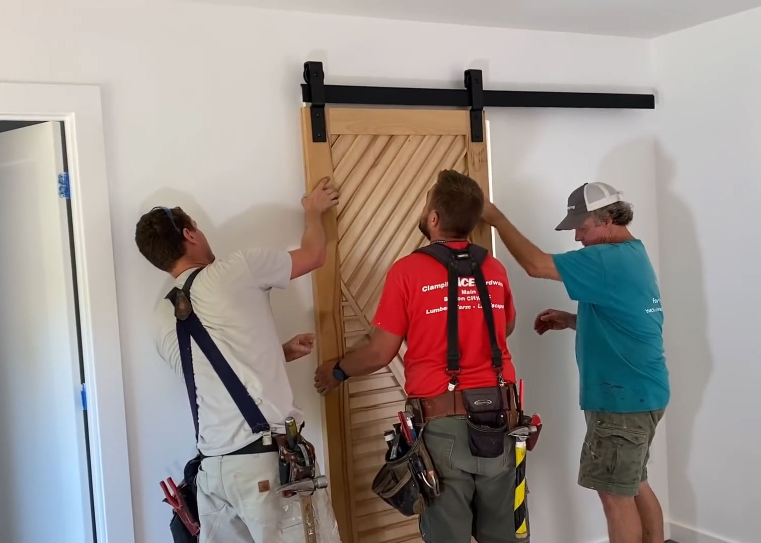 CS Barn Door Track featured on The Perkins Builder Brothers Youtube Series
